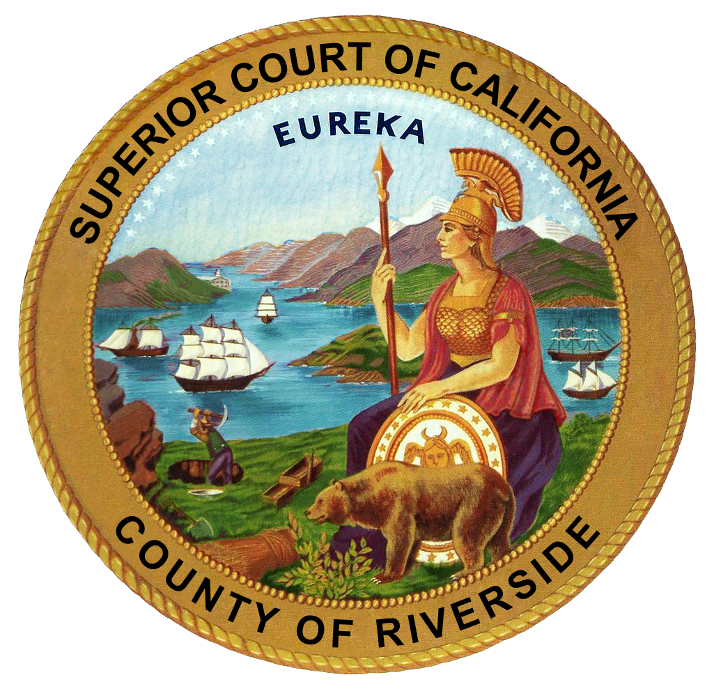 California State Seal- Superior Court of California - County of Riverside